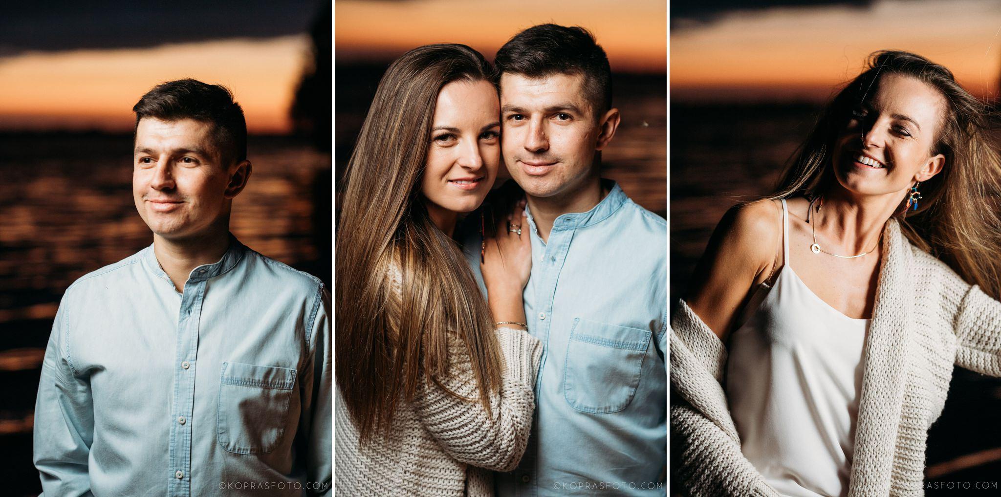 romantyczna sesja narzeczeńska, piękne zdjęcia, kreatywna fotografia, zbiornik jeziorsko,