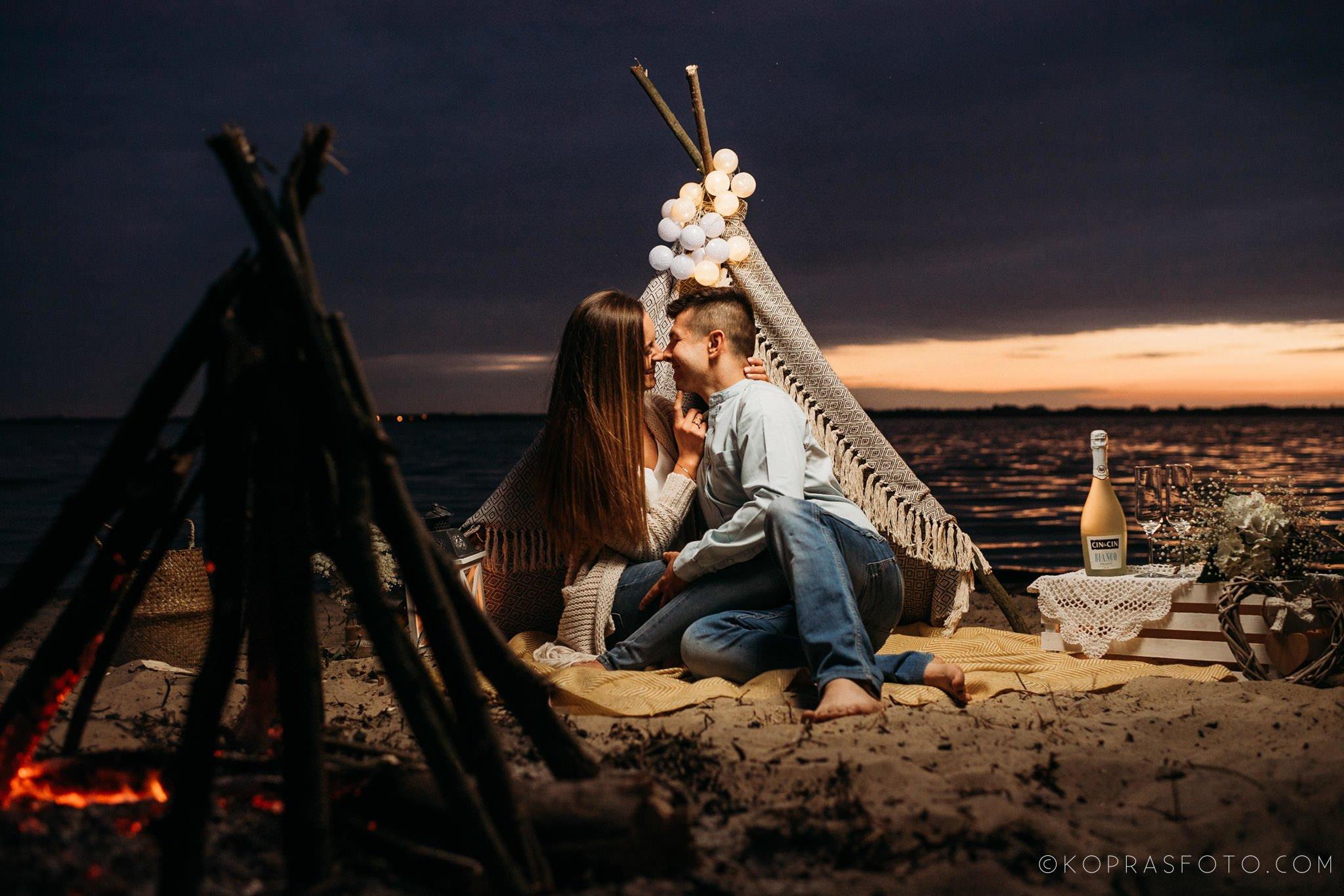 Ewa i Konrad - sesja narzeczeńska nad jeziorem 80