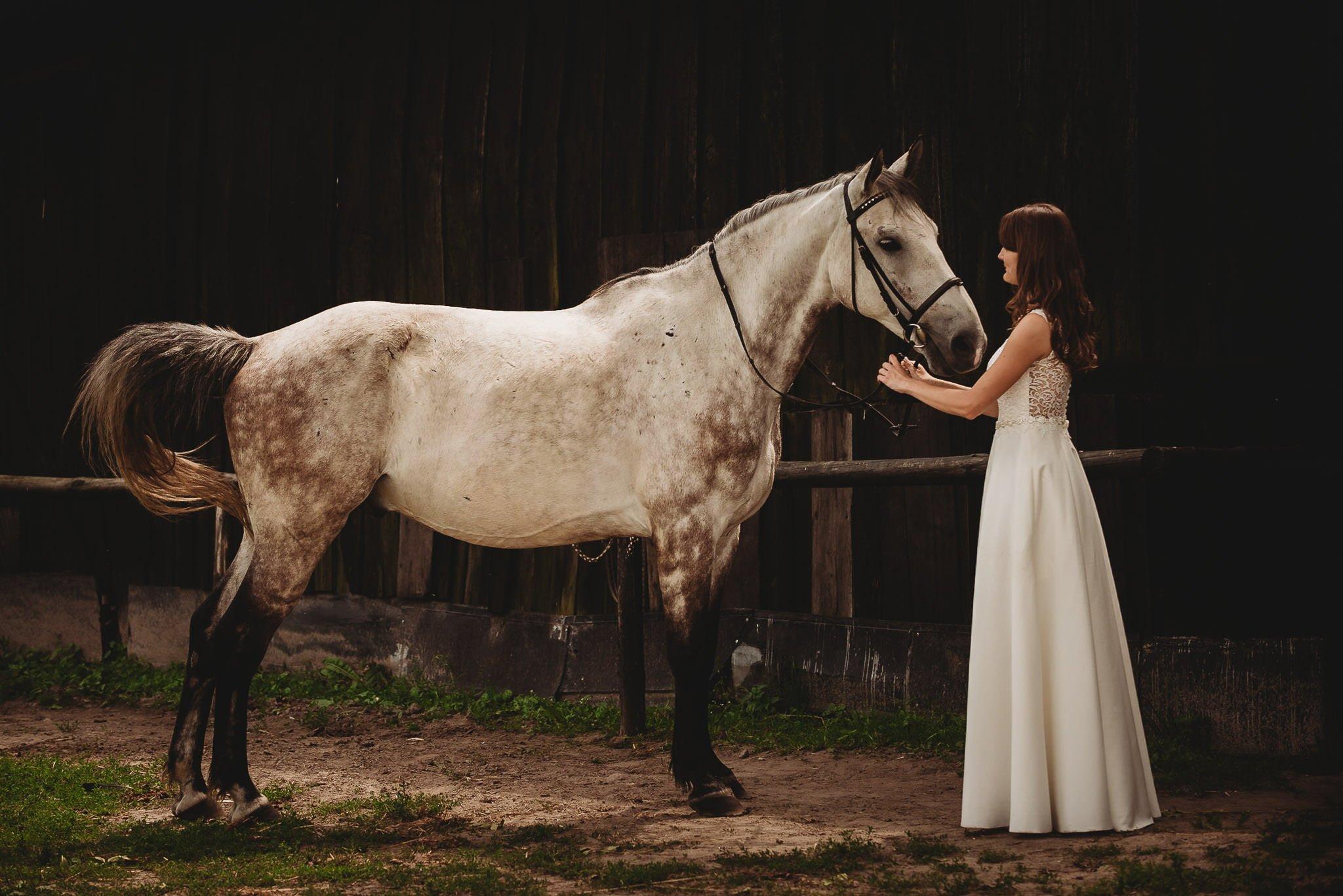 Monika i Michał, wesele w Paryżu i sesja plenerowa w stadninie koni w Czołowie 362