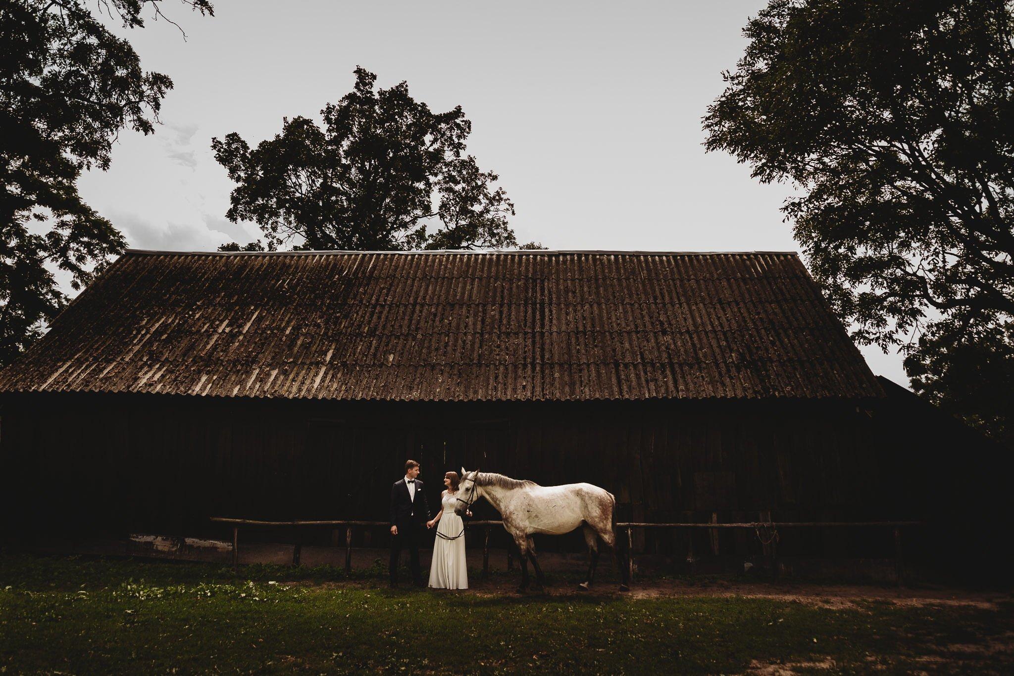Monika i Michał, wesele w Paryżu i sesja plenerowa w stadninie koni w Czołowie 368