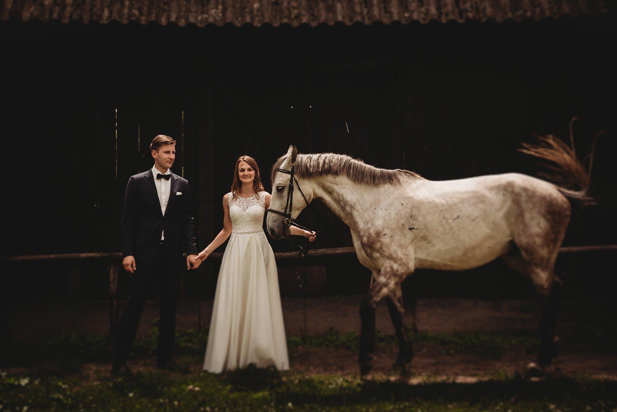 Monika i Michał, wesele w Paryżu i sesja plenerowa w stadninie koni w Czołowie 372
