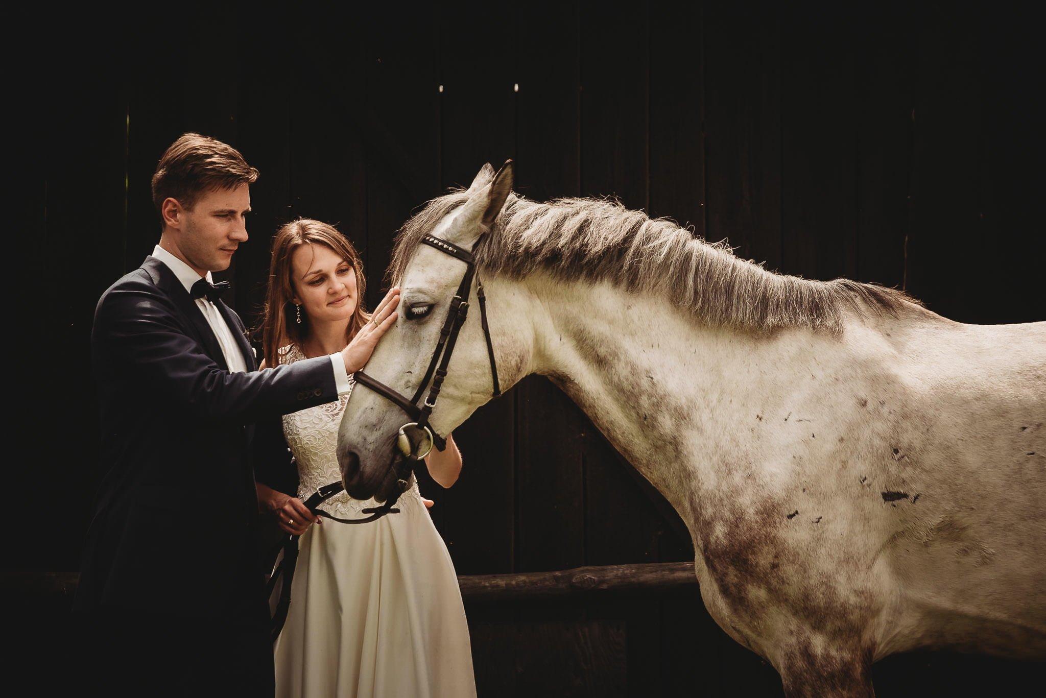 Monika i Michał, wesele w Paryżu i sesja plenerowa w stadninie koni w Czołowie 374