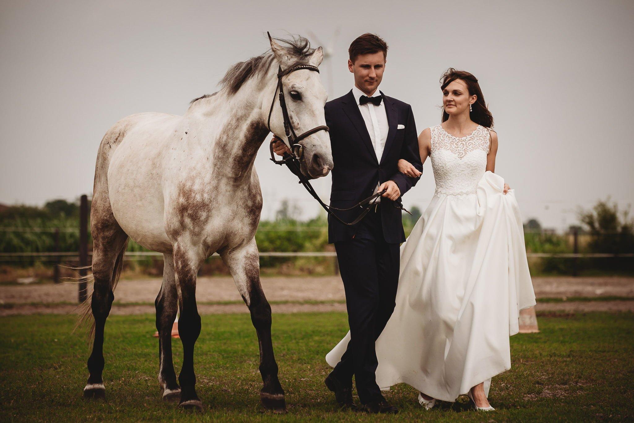 Monika i Michał, wesele w Paryżu i sesja plenerowa w stadninie koni w Czołowie 376