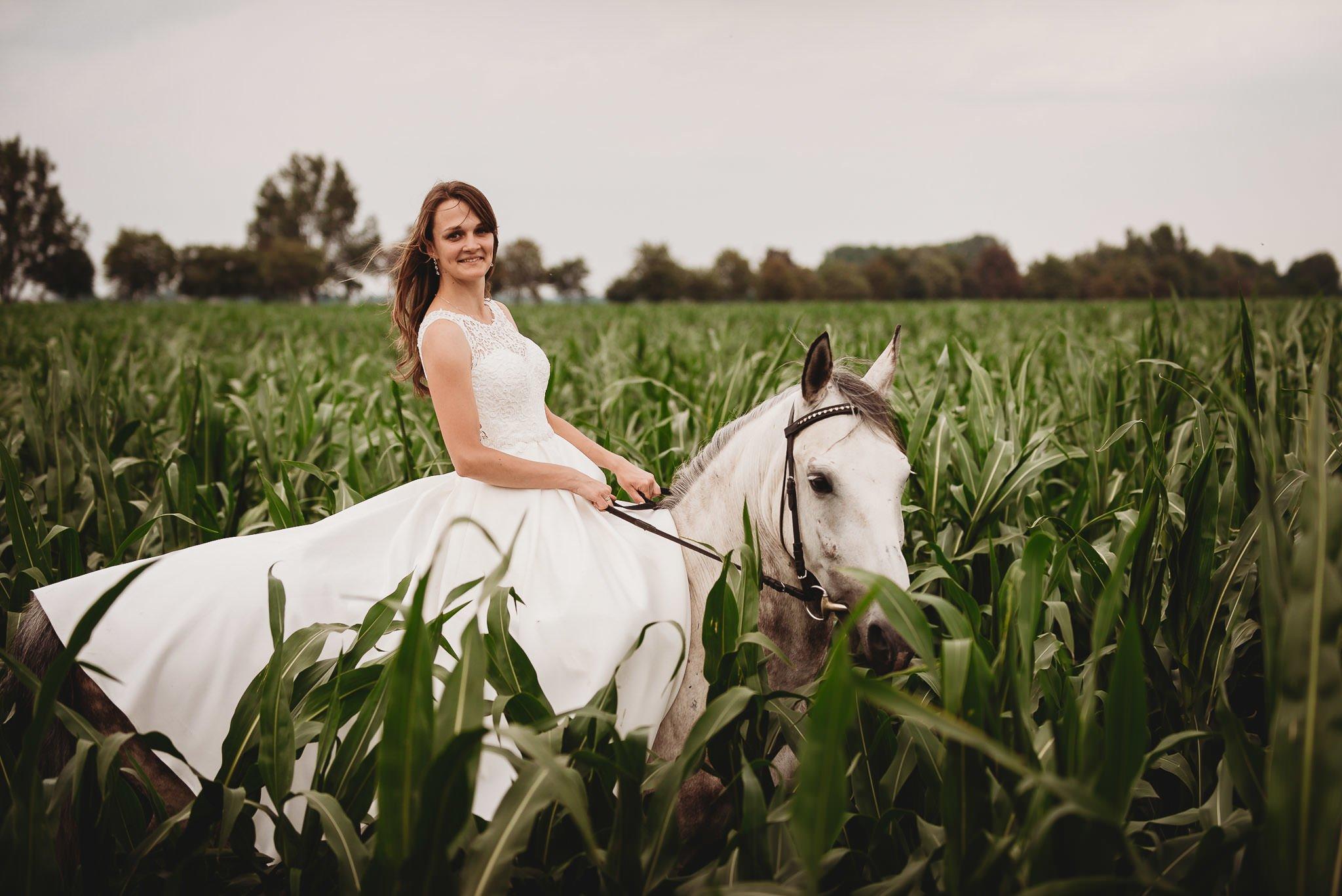 Monika i Michał, wesele w Paryżu i sesja plenerowa w stadninie koni w Czołowie 400
