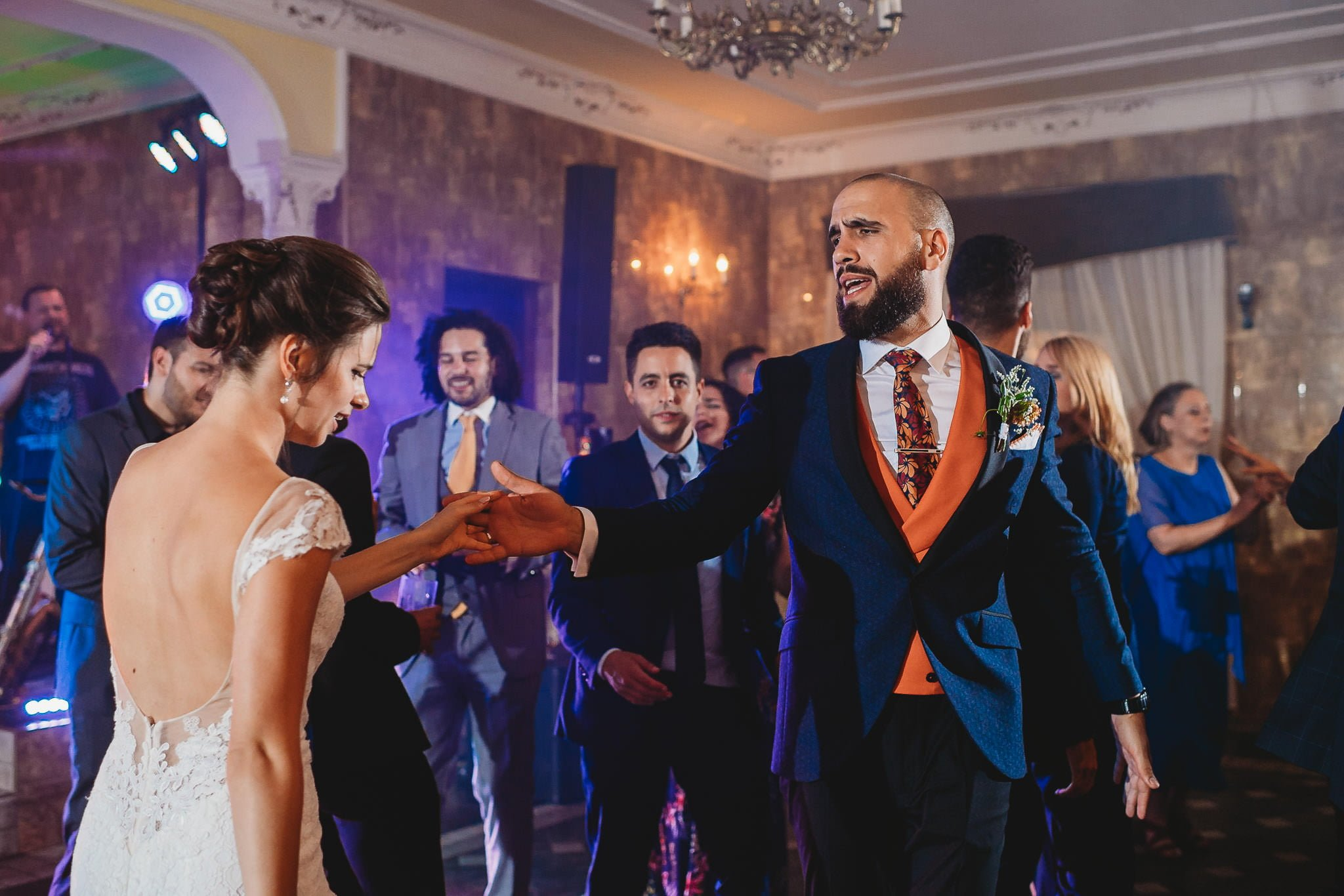 pan młody, panna młoda, zabawa weselna, przyjęcie weselne, Jarocin