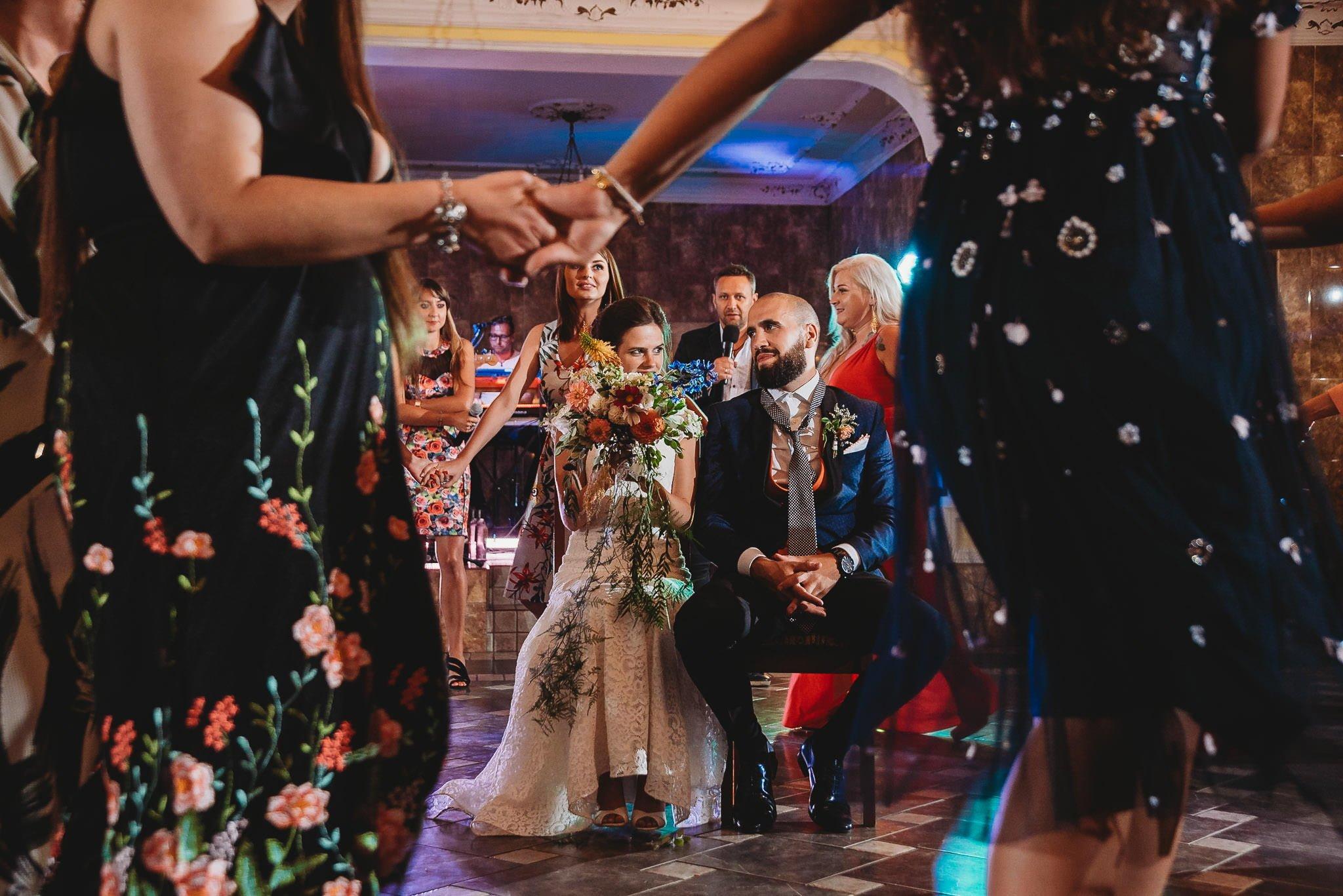 zabawa oczepinowa, ślub, wesele polsko-hiszpańskie, Jarocin