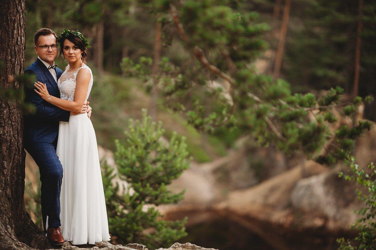 Mustangiem do ślubu! Plener ślubny Asi i Tomka - Kolorowe Jeziorka. 255
