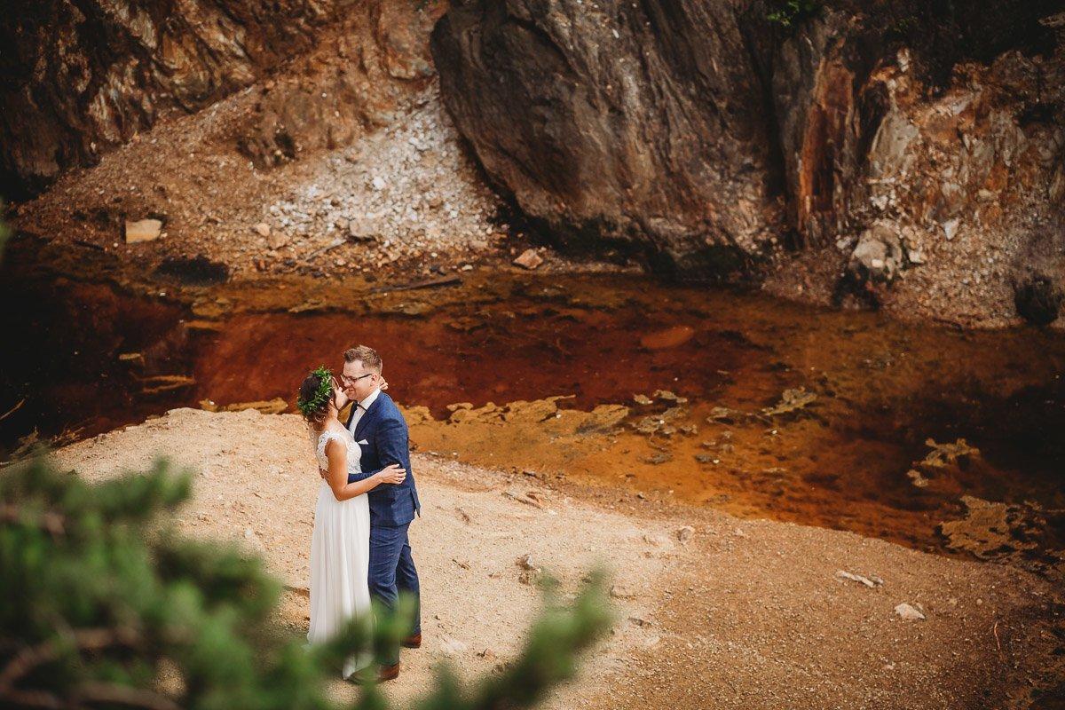 Mustangiem do ślubu! Plener ślubny Asi i Tomka - Kolorowe Jeziorka. 303