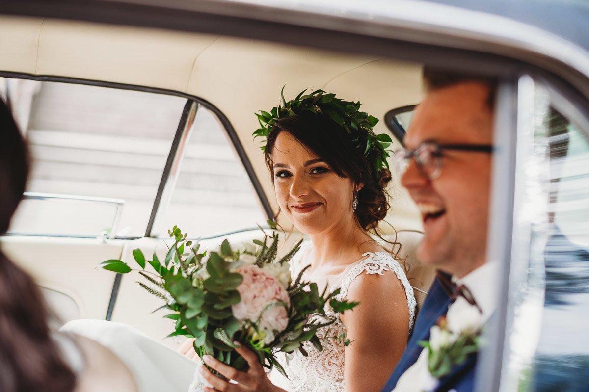 Mustangiem do ślubu! Plener ślubny Asi i Tomka - Kolorowe Jeziorka. 123